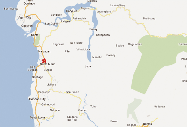 Santa Maria Ilocos Sur Map