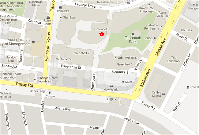 Greenbelt Mall Makati Map
