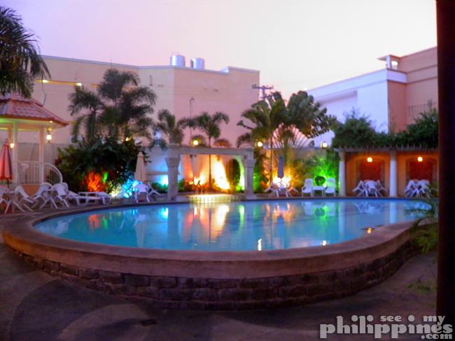 Pacific Breeze Hotel Pool Night