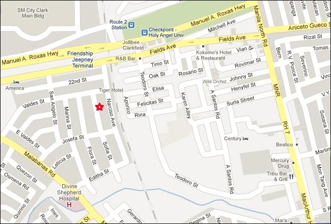 Affinity Hotel Angeles City Map