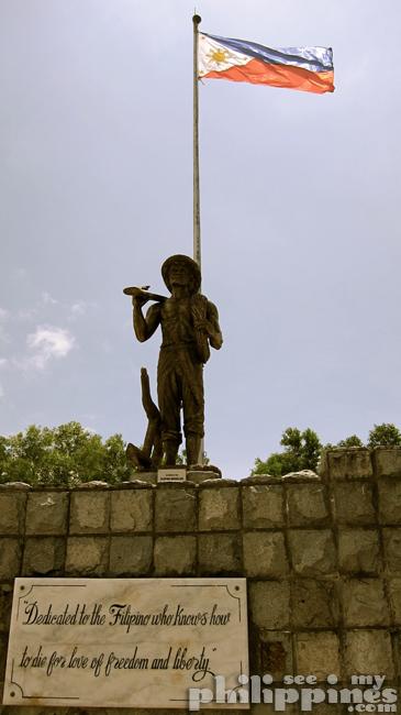 Corredigor Island Philippines Farmer Soldier Statue